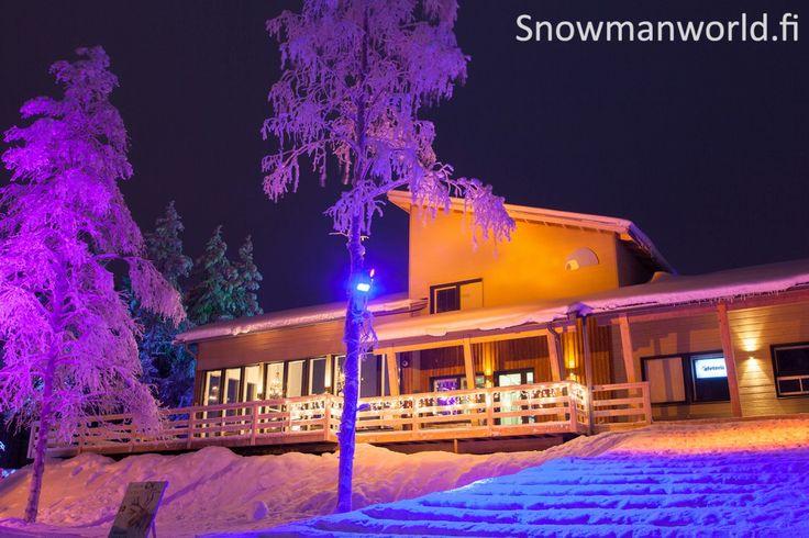 Reception building of Snowman World in Santa Claus Village in Rovaniemi in Lapland