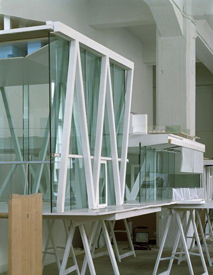 Series of design models from the facade of Christian Kerez's Leutschenbach Schule