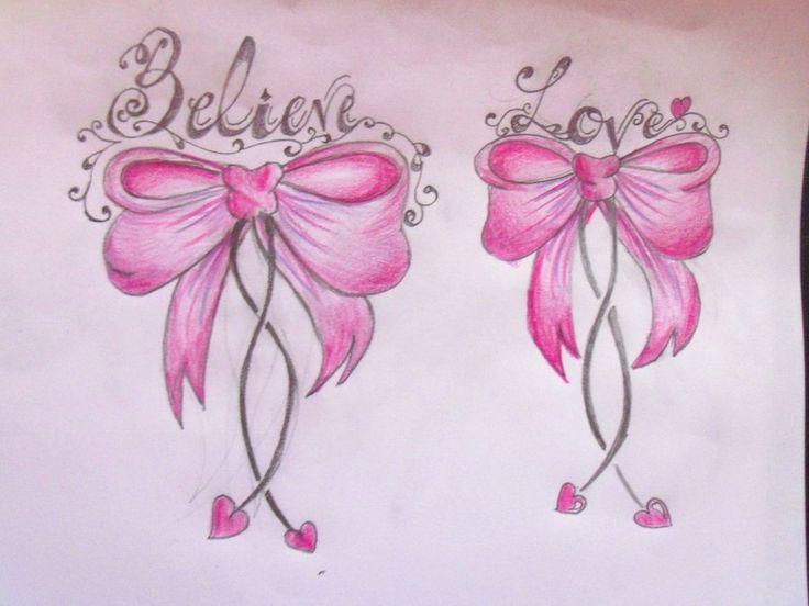 Pink Word Bows by Cupcake-Lakai.deviantart.com on @deviantART