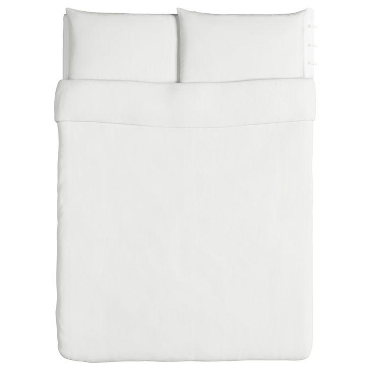 linblomma duvet cover and pillowcases white fullqueen ikea