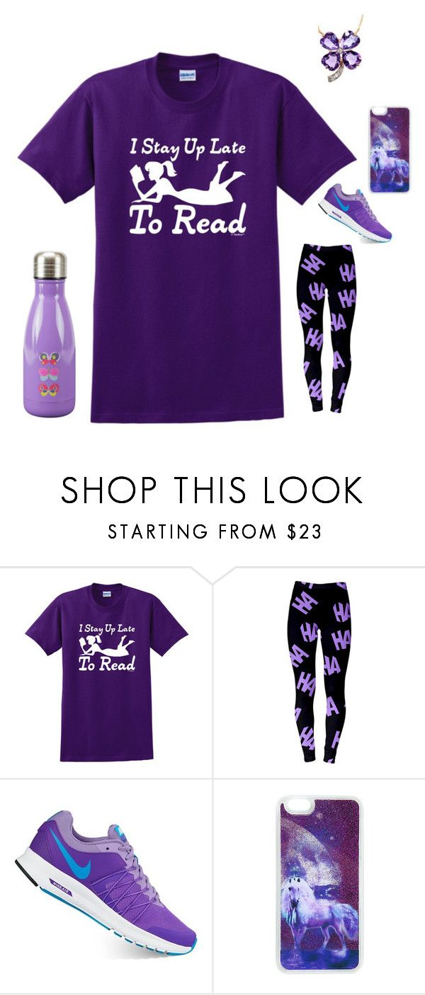 """""""Katie Green"""" by the-magik-mage ❤ liked on Polyvore featuring NIKE and Boston Warehouse"""