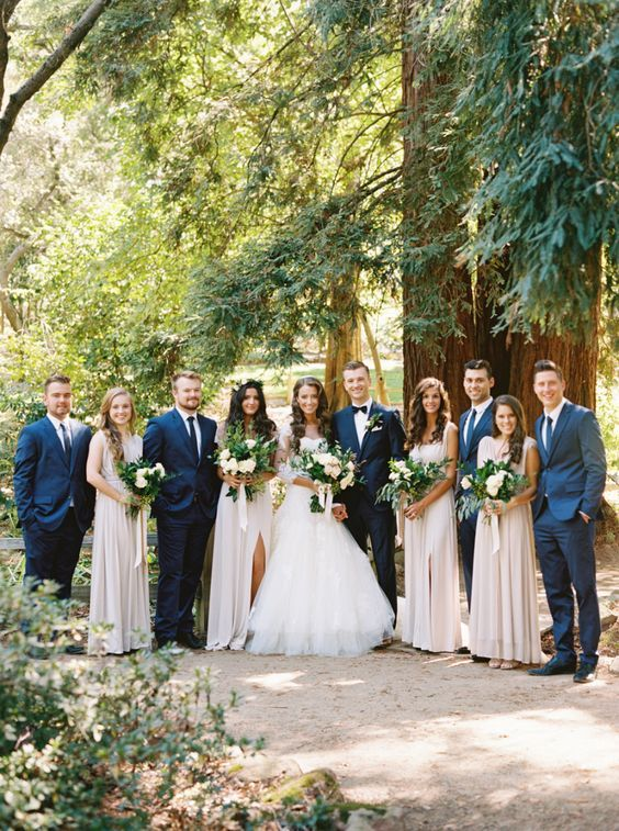 rustic-navy-taupe-wedding http://itgirlweddings.com/a-wedding-dream-brought-to-life/