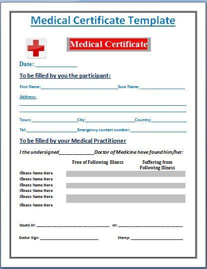 Performa Of Medical Certificate 28+ medical certificate templates