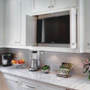 Best 25  Kitchen Tv Ideas On Pinterest | Wood Mode, Tv In Kitchen pertaining to Lummy Kitchen Tv Ideas
