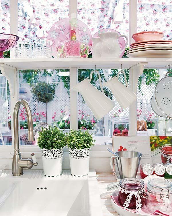 ::Light and lovely pastel kitchen::