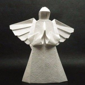 Origami Engel - Faltanleitung-dekoking-com-1