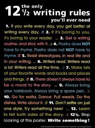 Great Writing rules :) - It's already working for me and do you write everyday?