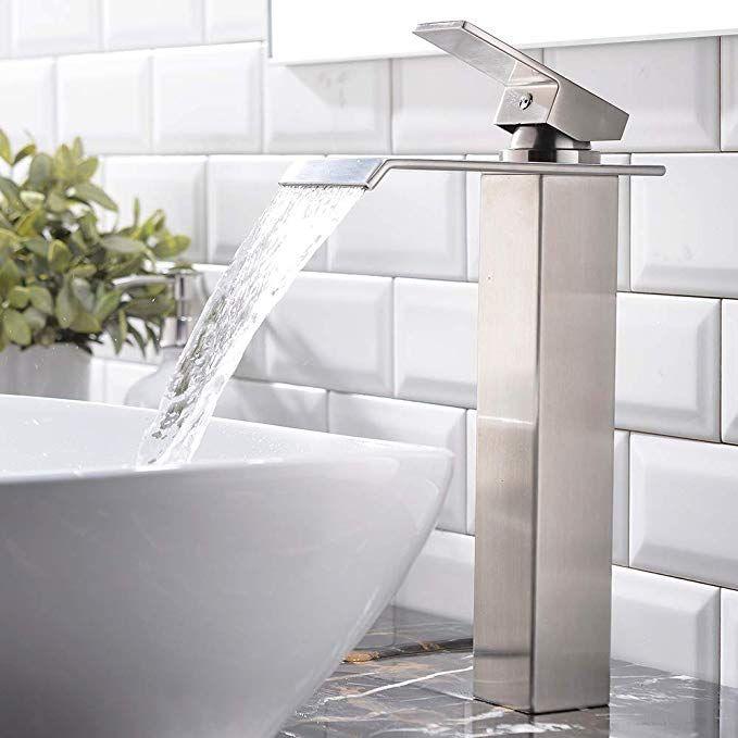 Single Handle Waterfall Brushed Nickel