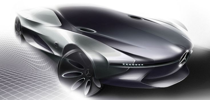 Mercedes-Benz Concept Design Sketch by Henry Wang