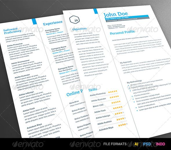 Pro Simple Resume 2 Piece - Resumes Stationery