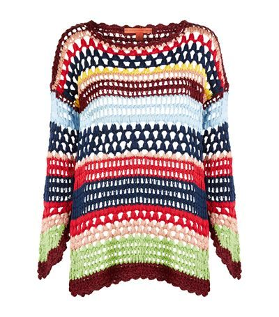 Tommy Hilfiger Multi-Coloured Crochet Sweater available to buy at Harrods. Shop women's designer fashion online and earn Rewards points.