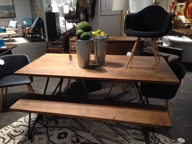 Toronto Showroom 2016 - Fusion Dining Table, Fusion Bench, Vice Chair
