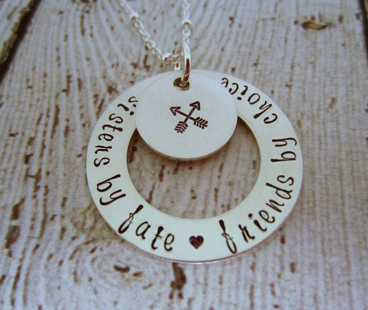 Sterling Silver Sisters Necklace, Sister Necklace for 2, Sister Necklace for 3, Sisters Jewelry, Jewelry for Sisters, Gift for Sisters by EllenBKeepsakes on Etsy