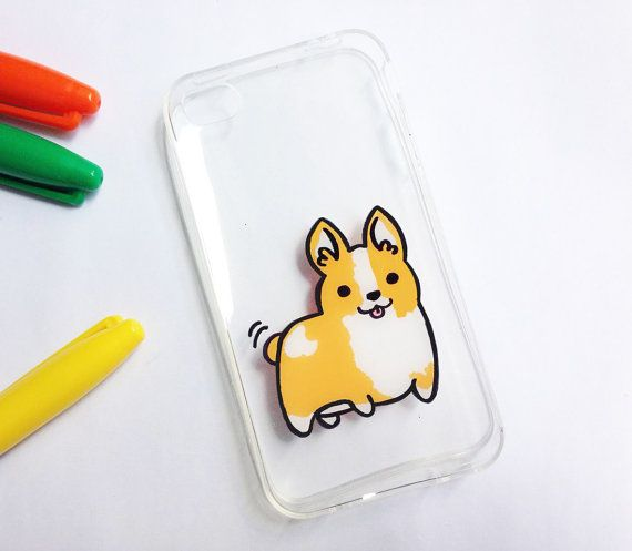 Hand painted corgi phone cases ( iPhone, HTC, Samsung, Sony Xperia) - Cute phone cases - Handpainted phone case