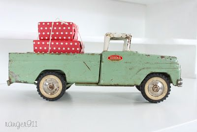 Green and white Tonka truck, really want to find one of these