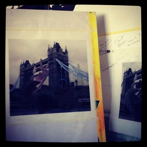 Photo painting - work