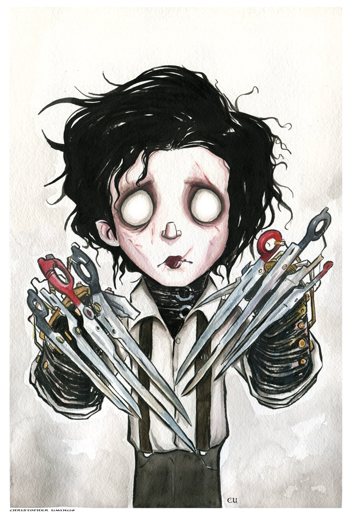 the idea of fitting in in edward scissorhands a film by tim burton Tim burton's edward scissorhands is more than just your everyday movie once upon a time in a castle high on a hill lived an inventor whose greatest creation was named edward although edward had irresistible charm he wasn't perfect.