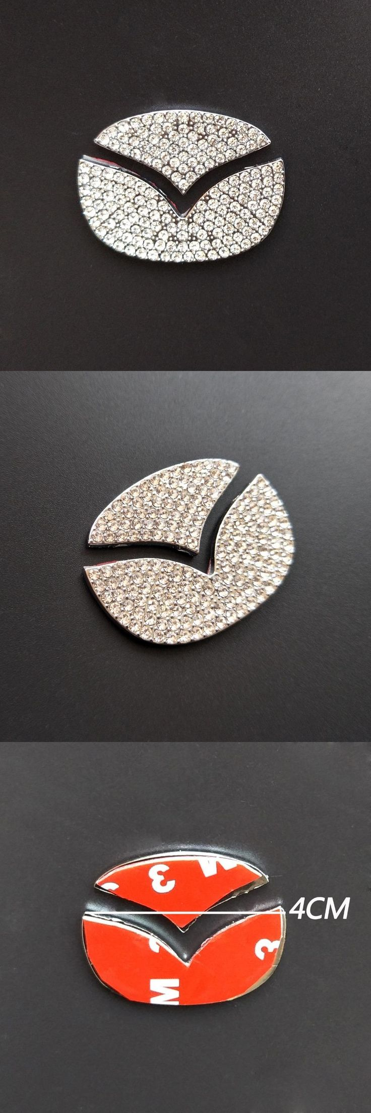 [Visit to Buy] For Mazda CX-4 CX5 7 9 Car Steering Wheel Trim Cover Sticker Rhinestone Car Styling Interior Decoration Acolortour Accessories #Advertisement