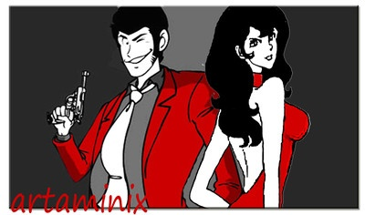 Lupi e Fujiko #comic #cosplayer #fumetti #popart #cartoon #love #handmade