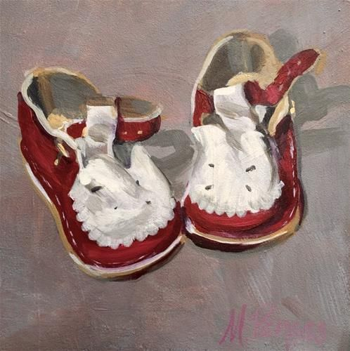 """Daily Paintworks - """"Ready To Toddle"""" - Original Fine Art for Sale - © Mary Pargas"""