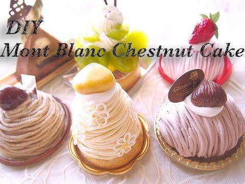栗の季節ですね。モンブランと美味しい北海道ルタオのケーキを お楽しみください^^FakeFood is fun food that will never disappear.All materials is a non-edible craft resin clay art that harden when it...