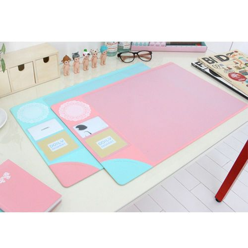Doily Desk Mat Nonslip Pad Waterproof Table Organizer Korean Card Holder