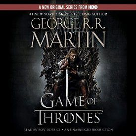 "Another must-listen from my #AudibleApp: ""A Game of Thrones: A Song of Ice and Fire, Book 1"" by George R. R. Martin, narrated by Roy Dotrice."
