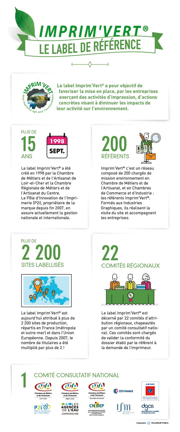 [Infographie] Imprim'Vert - Le label de référence - © ÉCLAIRAGE PUBLIC