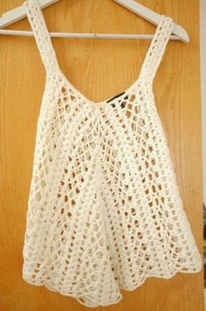 Topshop Crochet Top £15. I have one from Hollister and I wear it was a cover up.