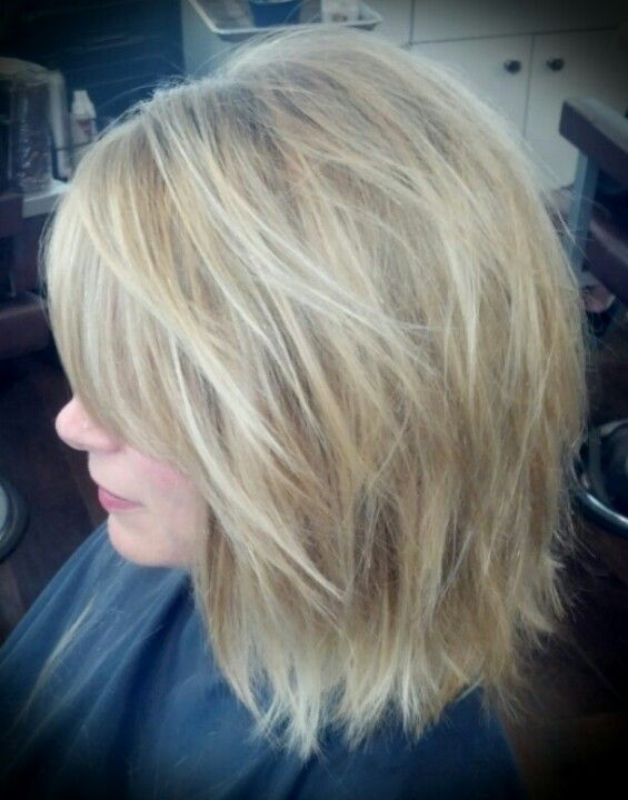 Shattered Shoulder Length Bob And Highlight By Jennifer