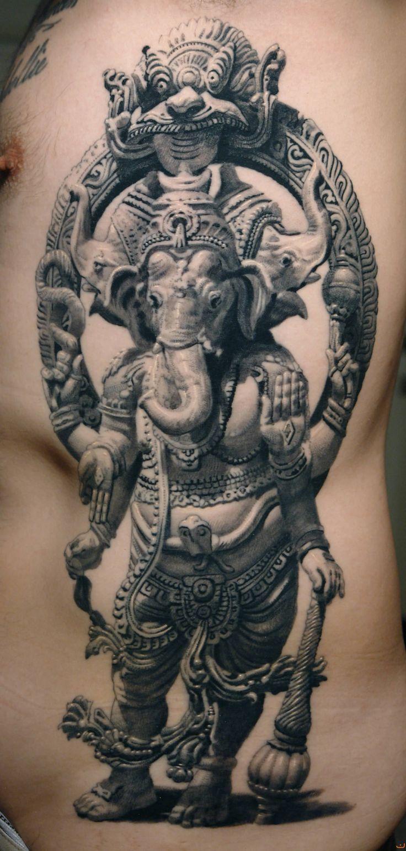 ganesha tattoo by sergiu sanchez                                                                                                                                                                                 Más