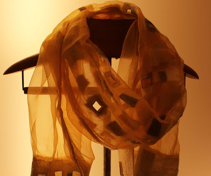 Silk and Burel Scarf. Design by Ana Rita Albuquerque for Burel Mountain Originals