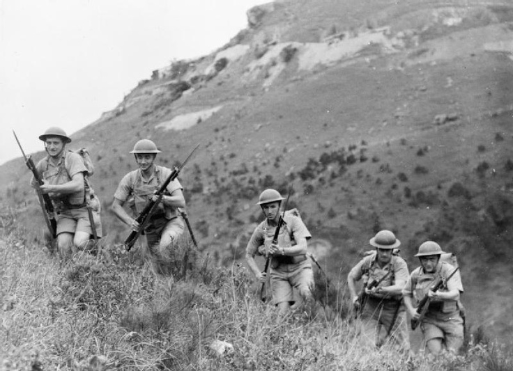 Canadian soldiers training in the hills on Hong Kong Island prior to the Japanese invasion in December 1941.