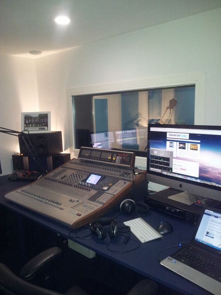New studio of MB - Media, the home of Universe Radio.