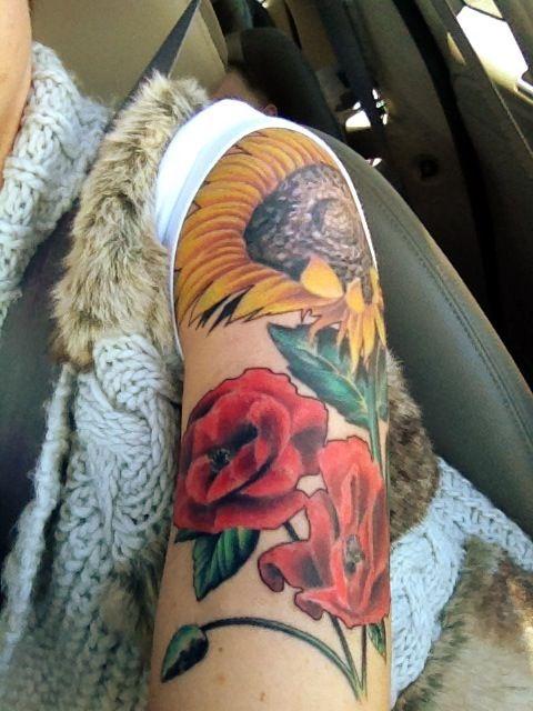 Sunflower Tattoo Sleeve