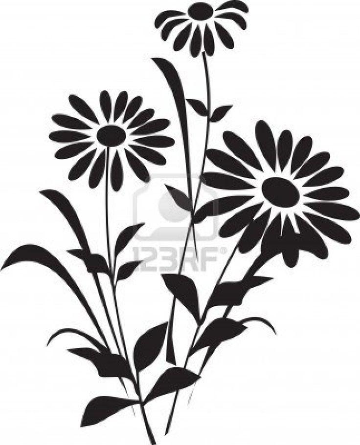 12 best Flower silhouette images on Pinterest | Flower ...