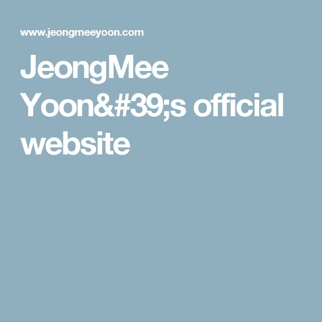 JeongMee Yoon's official website