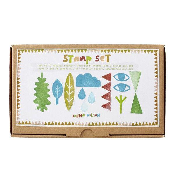 rubber stamp set donna wilson