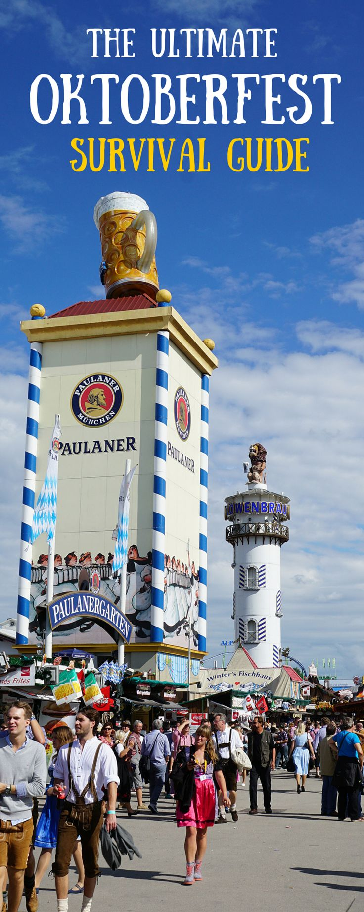 The ultimate survival guide to Oktoberfest in Munich. Where to stay, how to get into the famous beer tents and what to eat. Be prepared for the biggest folk festival in the world