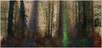 """TTOZOI """" Senza titolo"""", 2012 muffe naturali e pigmenti su juta cm. 90 x 190"""
