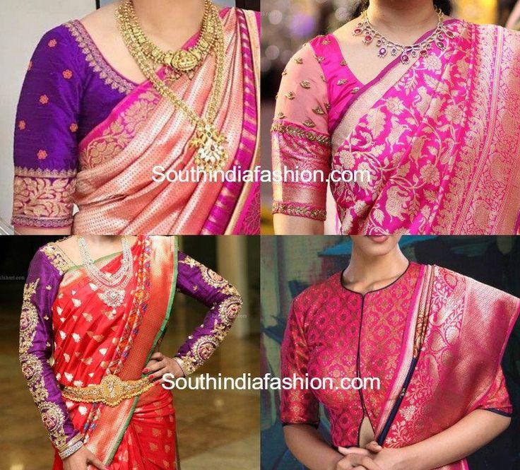 8 Stunning Blouse Patterns for Banarasi Silk Sarees!!  FULL POST: http://www.southindiafashion.com/2017/05/blouse-designs-for-banarasi-silk-sarees.html #gemdivine #fashion #fashionista #instafashion #fashionblogger #mensfashion #fashionable #fashionblog #streetfashion #fashiondiaries #FashionAddict #fashionstyle #fashiongram #womensfashion #fashionweek #fashionphotography #fashionpost #highfashion #kidsfashion #FashionDesigner #fashionshow #fashionlover #menfashion #fashiondesign…