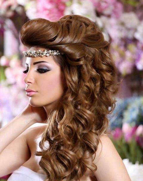 arabic bridal hairstyles | Bridal hairstyle