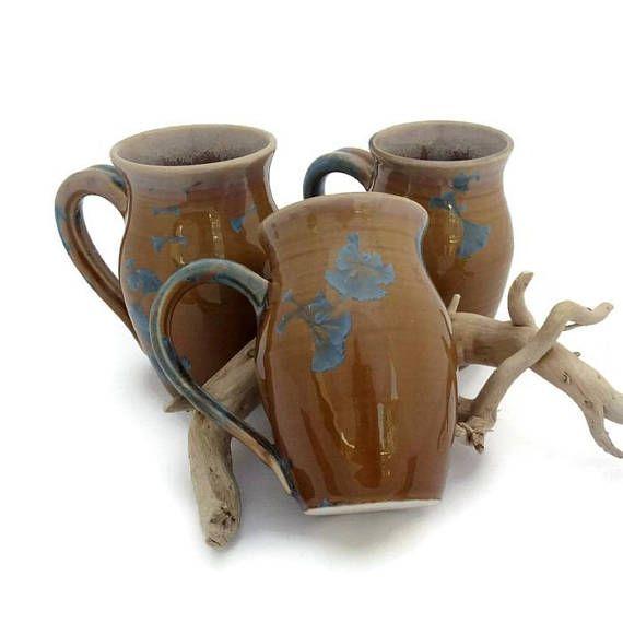Large Coffee Mugs Crystalline Glazed Soup Mugs Ceramic