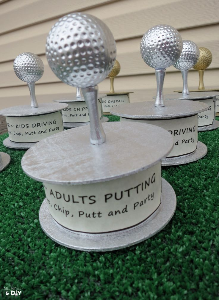 DIY golf trophies