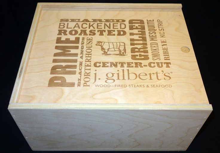 J. Gilbert 6 Bottle Wooden Wine Box