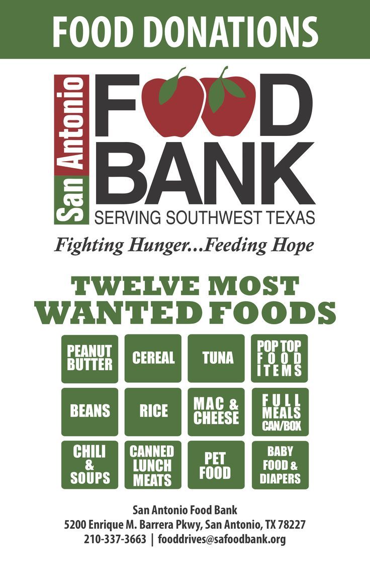 Give Food (With images) San antonio food, Food donation