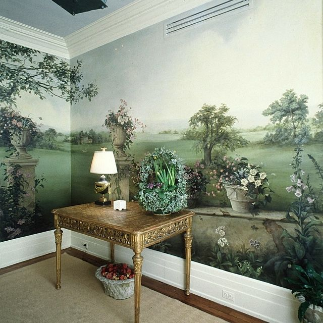 Fresh Hand Painted Wallpaper Murals