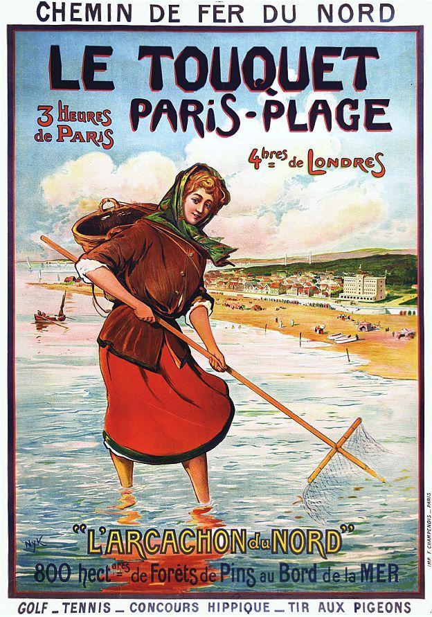 Affiche chemin de fer Nord Le Touquet Paris-Plage 2