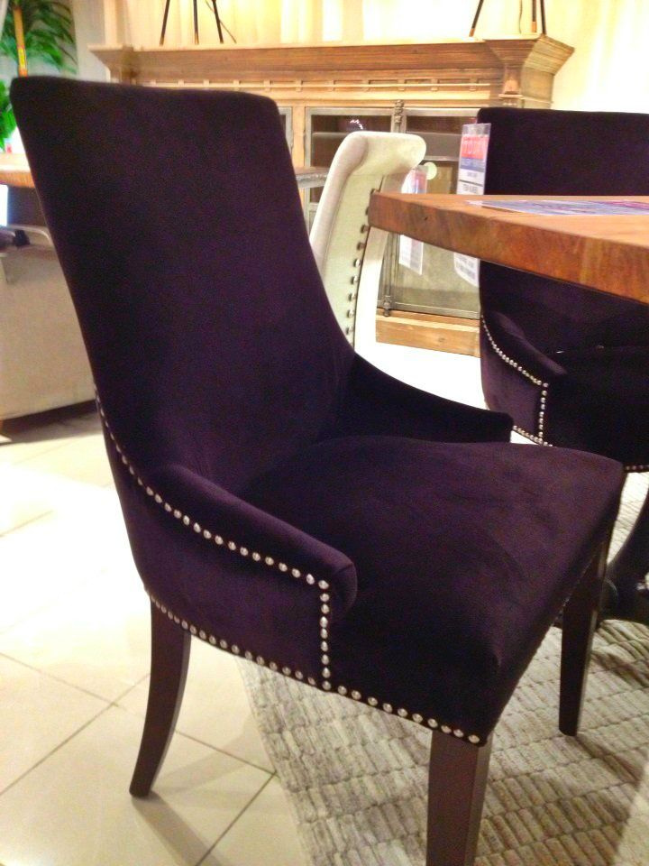 Beautiful royal purple dining room chair houston tx for Studded dining room chairs