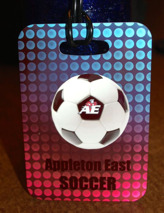 Appleton East High School Soccer Bag Tag Luggage by FlipTurnTags, $5.95
